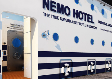 Nemo Hotel main entrance Cheap bed and breakfast London